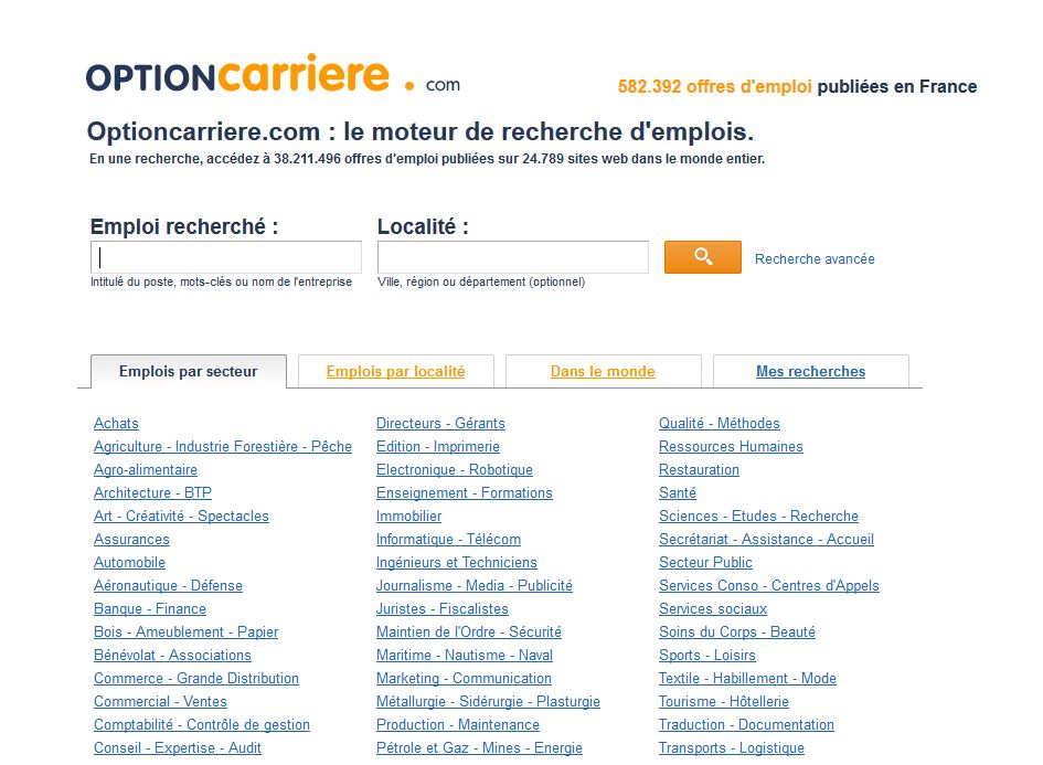optioncarriere com