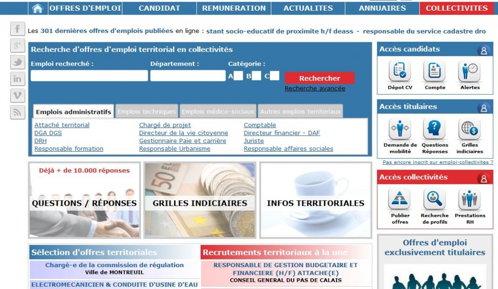 www.emploi-collectivites.fr