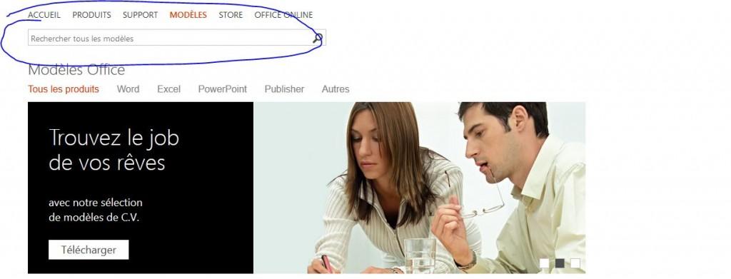 page acceuil mod u00e8le cv  u2013 recrutement et cv