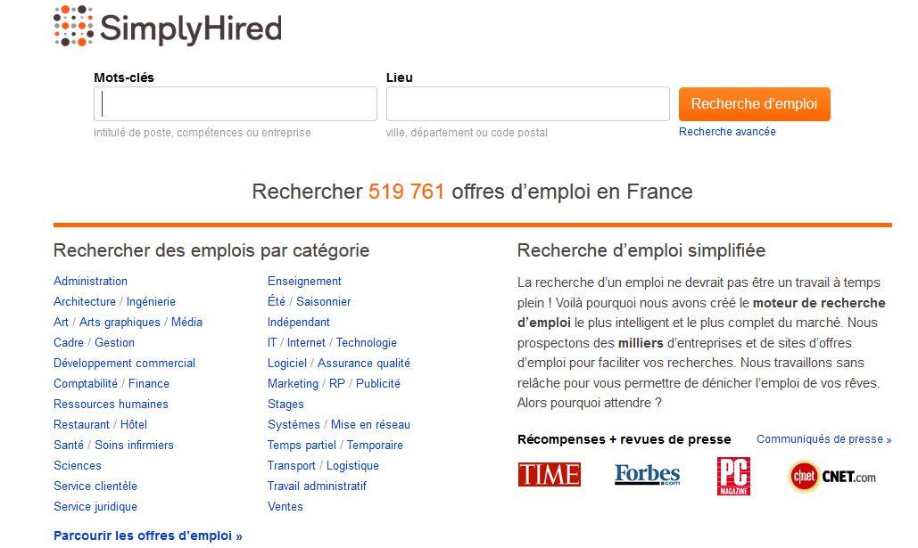 www.Simplyhired.fr