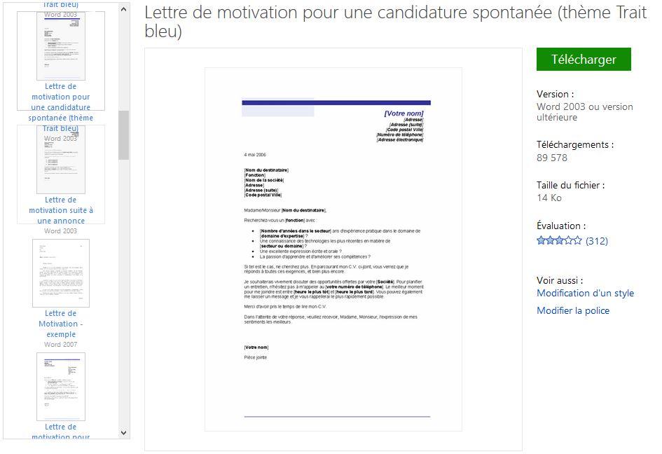lettre motivation candidature spontanée