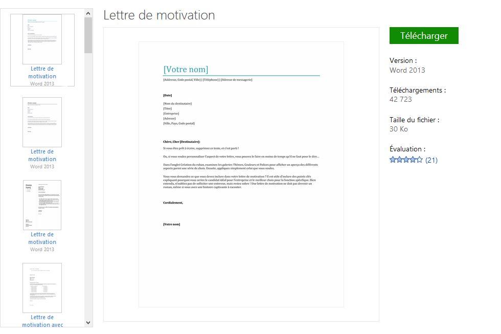 lettre motivation classique