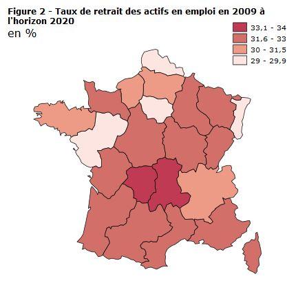 taux de retraite par regions